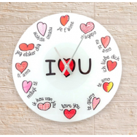 Reloj multilingüe I love you